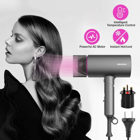 Image of Pritech Folding Hair Dryer