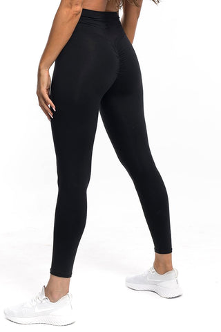 Image of Gym bunny Scrunch -ruching leggings - Black