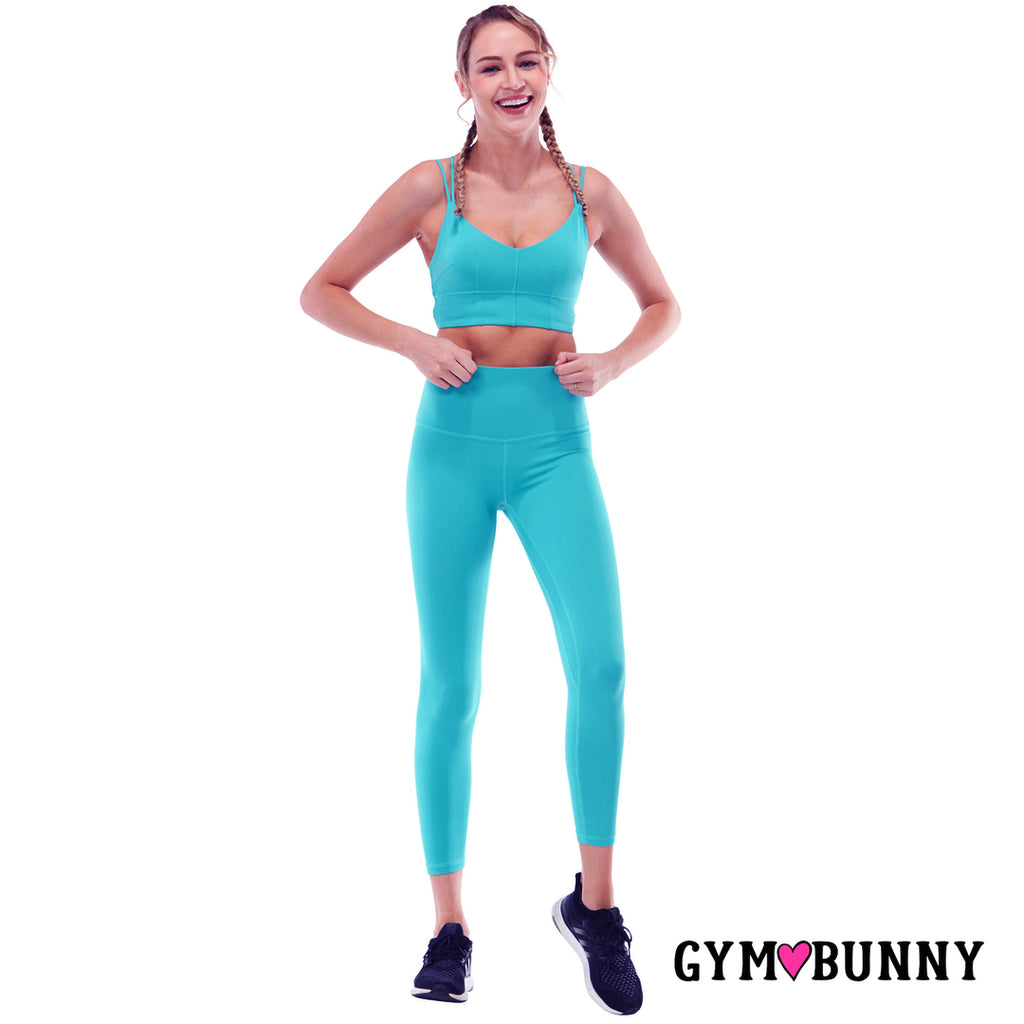 CLEARANCE SALE - NO RETURNS - Gym Bunny - Two Piece Yoga Set- Teal active wear