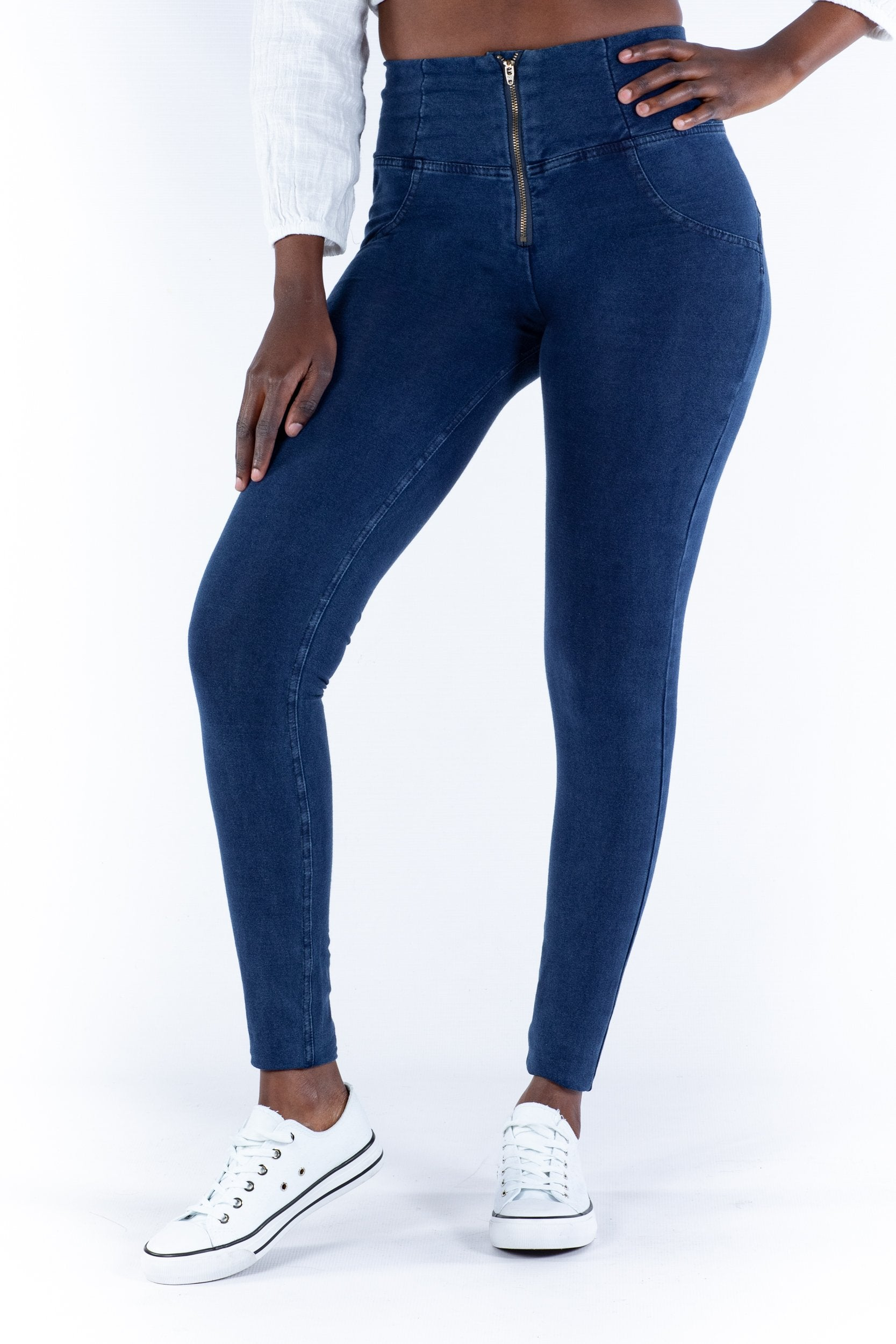 High waist Butt lifting Jeggings - Dark Blue