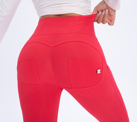 Image of High waist Butt lifting Jeggings - Coral Red