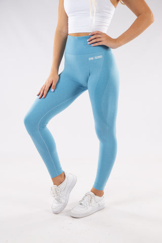 Image of Gymbunny Contour Seamless leggings- Light blue