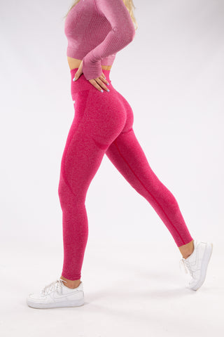 Image of Gymbunny Contour Seamless leggings- Crimson