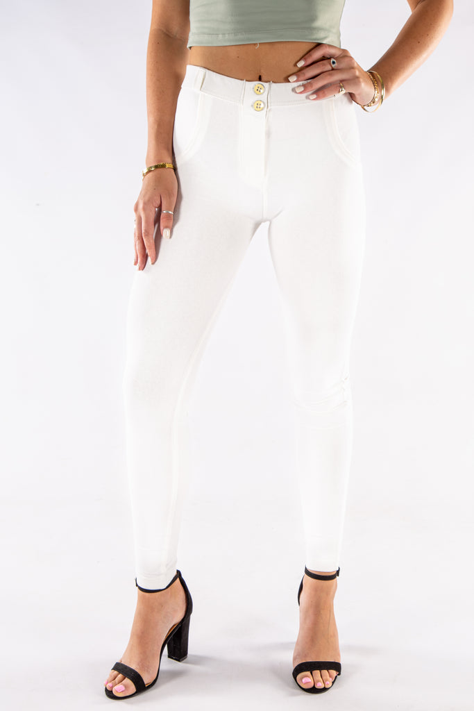 Butt lifting stretch pants - OFF white