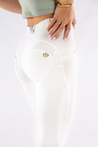 Image of Butt lifting stretch pants - OFF white