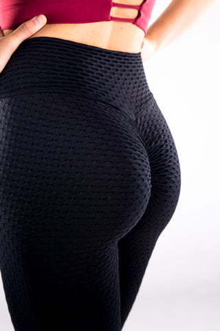 Gym Bunny Cheeky AKA 'Tik Tok Pants' - Anti cellulite leggings - Black