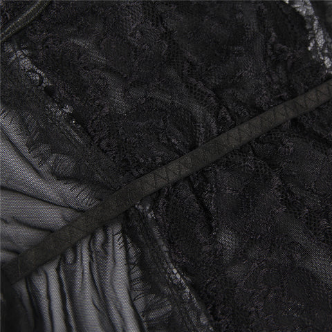 Image of Black Eyelash Lace  Bodysuit