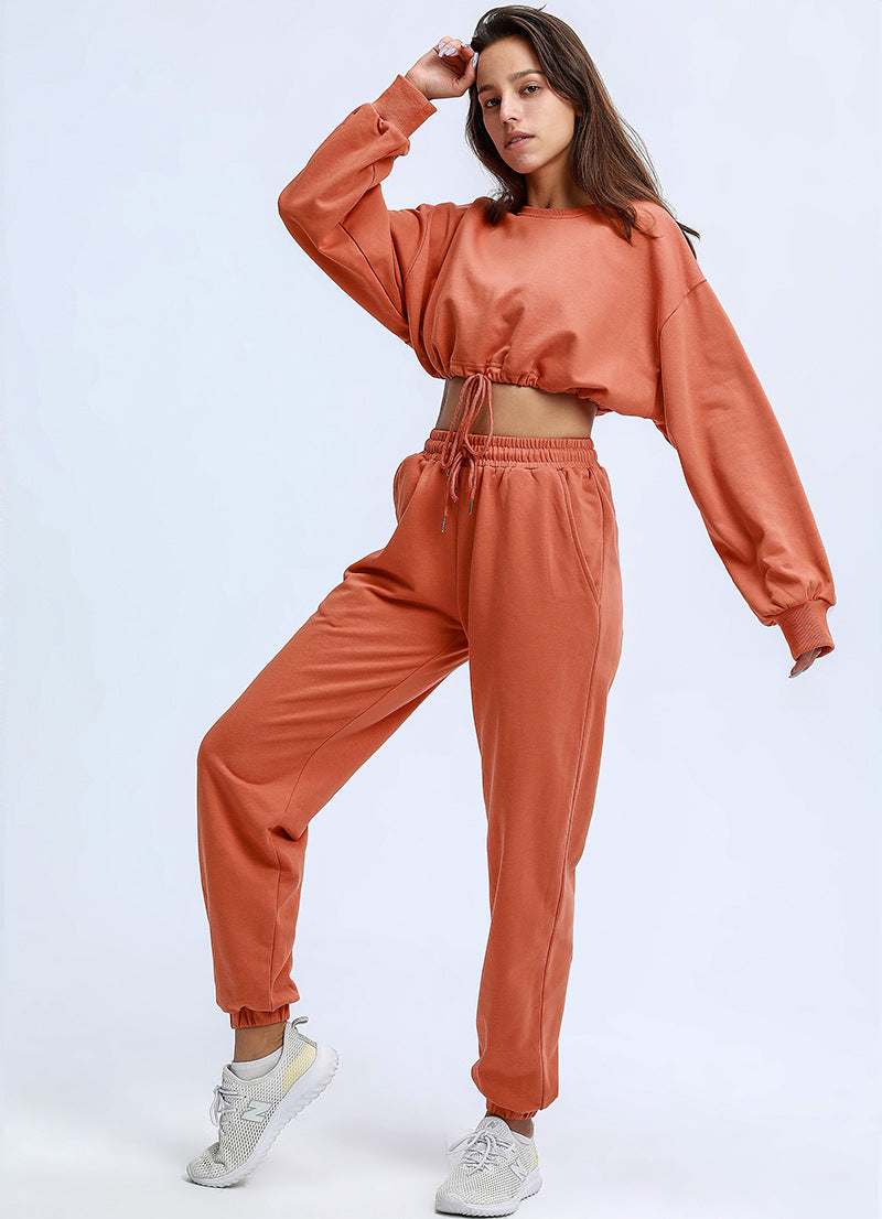 Image of Loose fit Jogger set (including crop top) - Amber