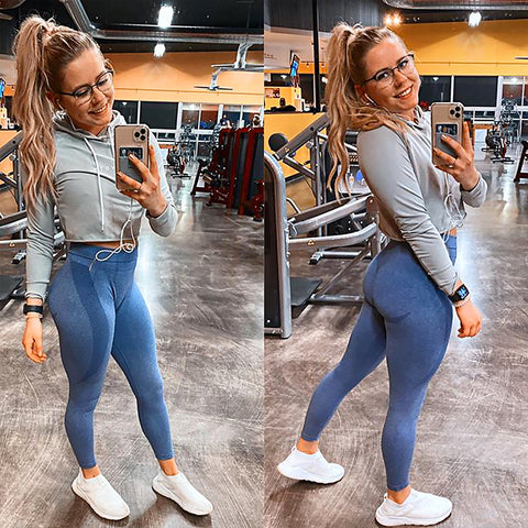 Image of Gymbunny Contour Seamless leggings- blue