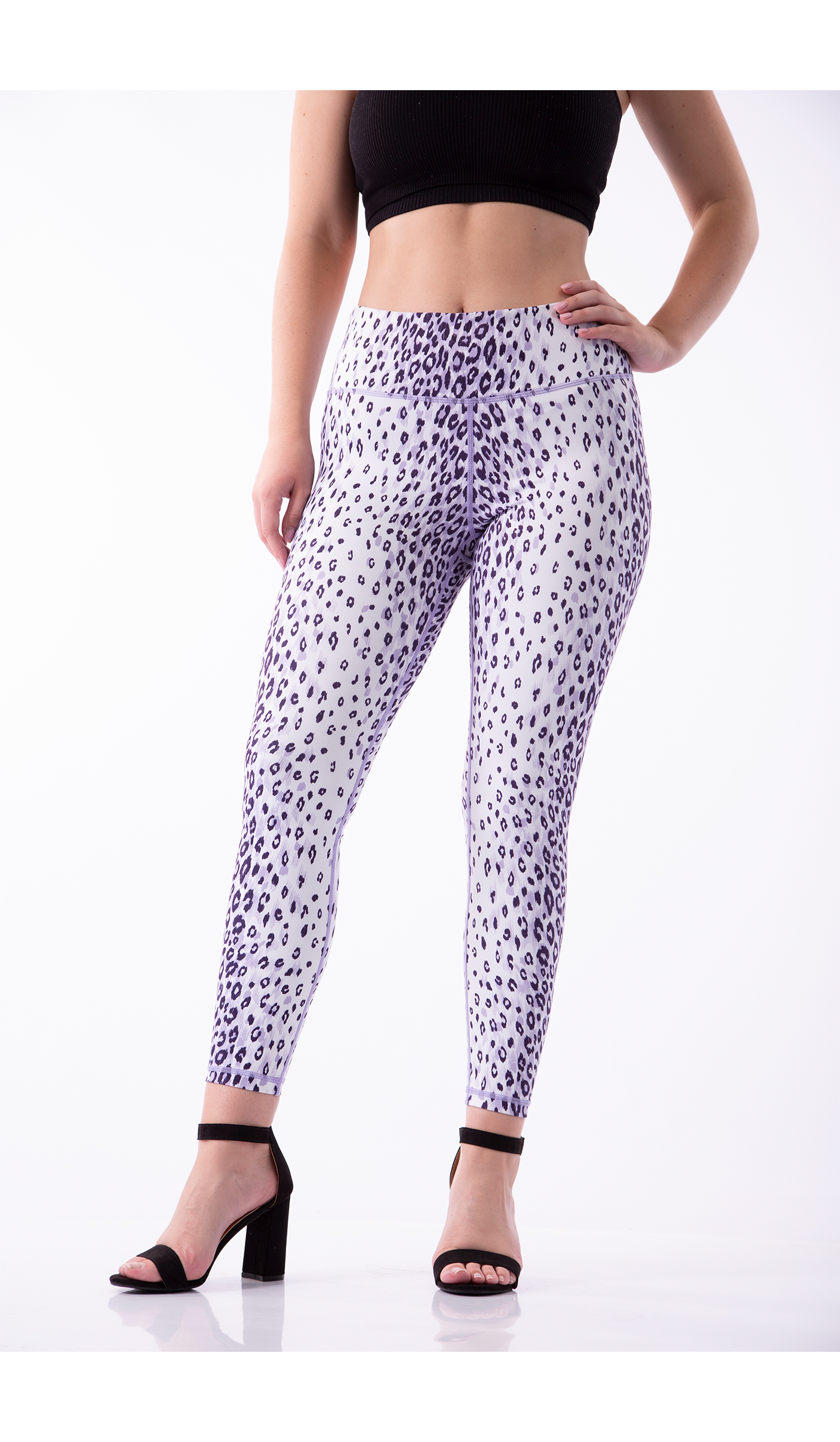 Image of GNT Leggings - white leopard