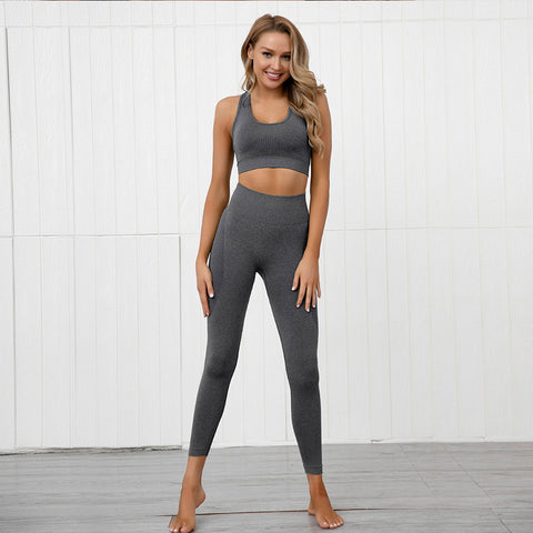 Gym Bunny Contour padded bra top - Dark grey