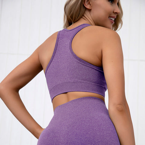 Image of Gym Bunny Contour padded bra top - Purple