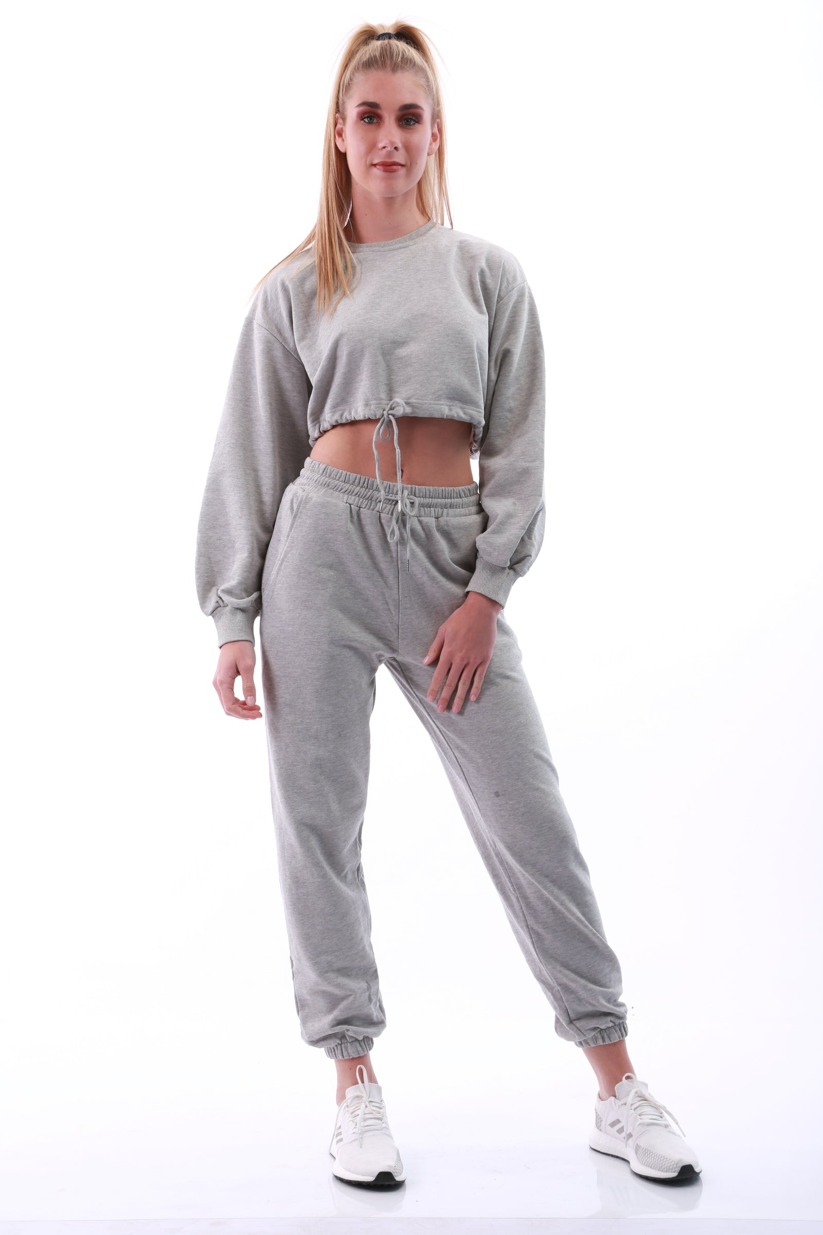 Image of Loose fit Jogger set (including crop top) - Grey