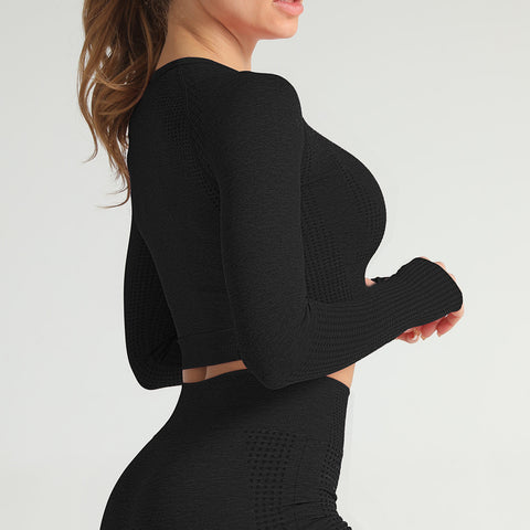 Image of Gym bunny Longsleeve Powertop - black