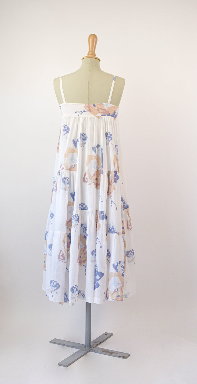 1970s Vintage Cacharel bohemian floral dress - Size XS/S