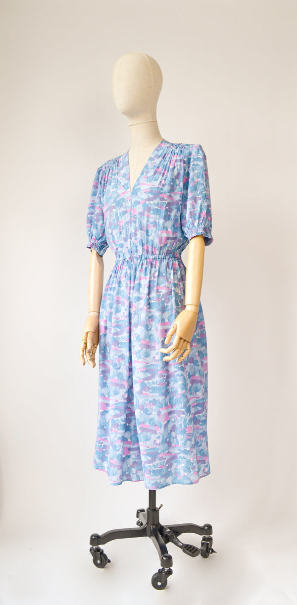 1980s Vintage novelty print dress - Size S