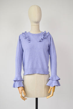 1990s Vintage lilac and frill jumper from Cacharel - Size S