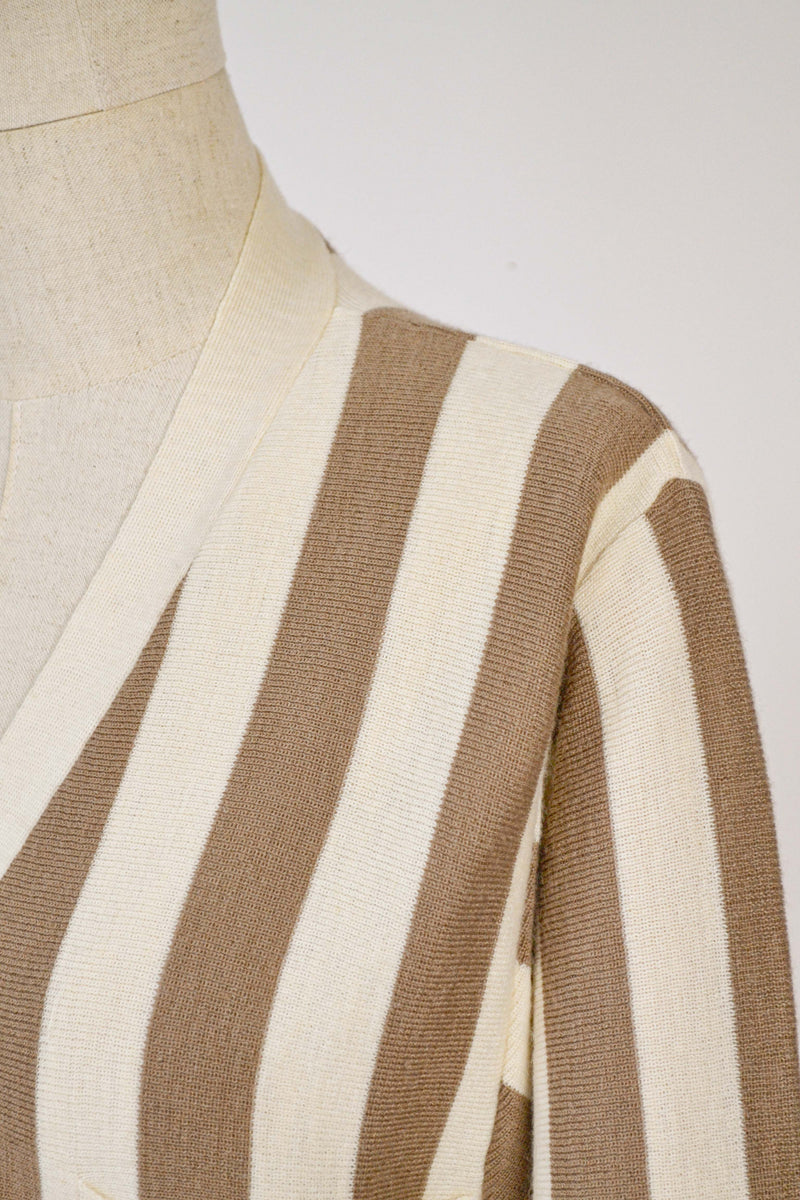 1990s Vintage Cacharel striped cardigan - M