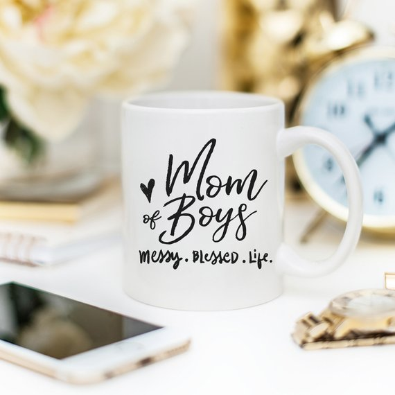 Mom Of Boys Coffee Mug