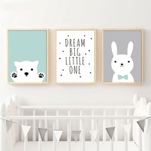 "Load image into Gallery viewer, ""Dream Big Little One"" Nursery Wall Prints"