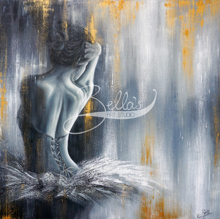Devotion - Original ballerina painting by Isabella