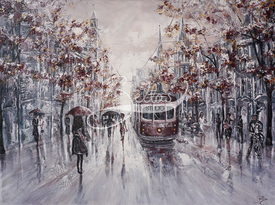 Melbourne Vibes, Collins Street - original paintings
