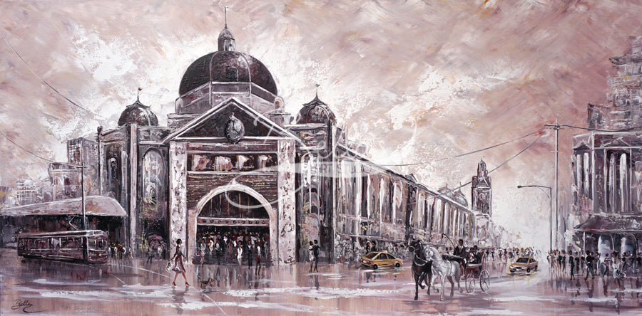 Melbourne Vibes Flinders Station III - original painting