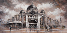 Load image into Gallery viewer, Melbourne Vibes, Flinders Station V by Isabella Karolewicz