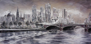 Melbourne Vibes, Princess Bridge III - original wall art