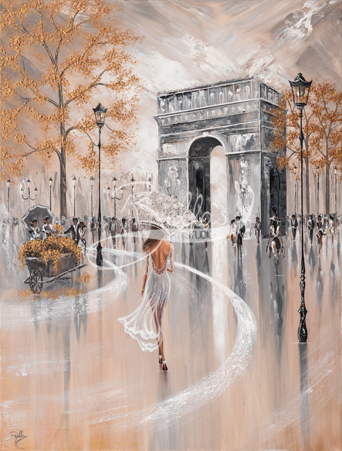 Paris Flair, Original Painting by Isabella Karolewicz