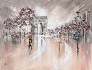 Vintage Flair, Paris - Original painting by bella