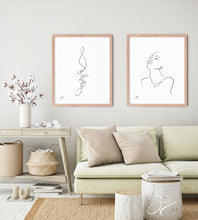 Load image into Gallery viewer, Honey Lips - Line Art Print