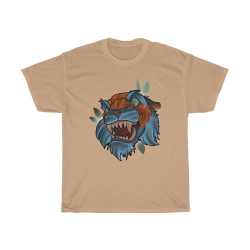 New School Tiger by Ben Macdonald Unisex Heavy Cotton Tee
