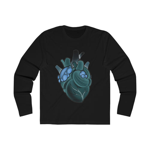 'Heart, Love, Shit' by Ben Macdonald  Long Sleeve Crew Tee