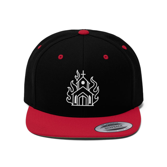 Burning Church by Ben Macdonald Unisex Flat Bill Hat