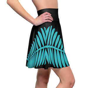 Dancing Bear Palm Leaf Women's Skater Skirt by Cosmo Cam