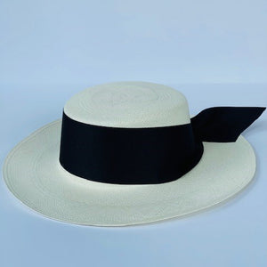 Cordovez Panama Hat With Black Ribbon