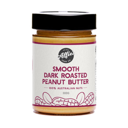 Alfie's Smooth Dark Roasted Peanut Butter (300g)