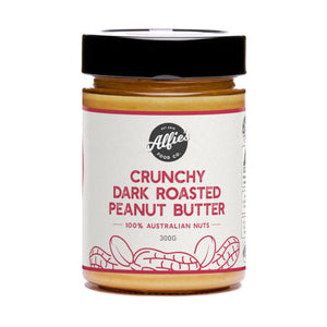 Alfie's Crunchy Dark Roasted Peanut Butter (300g)