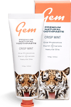 Load image into Gallery viewer, Gem Premium Natural Toothpaste - Crisp Mint (100g)