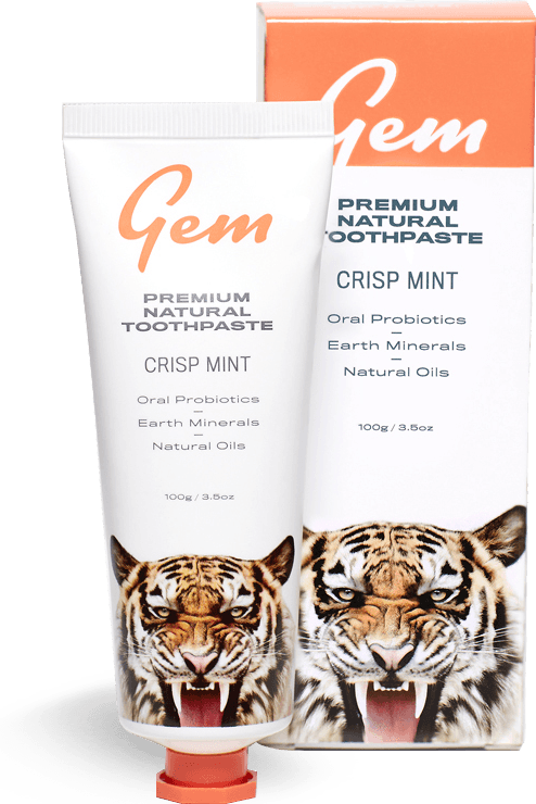 Gem Premium Natural Toothpaste - Crisp Mint (100g)