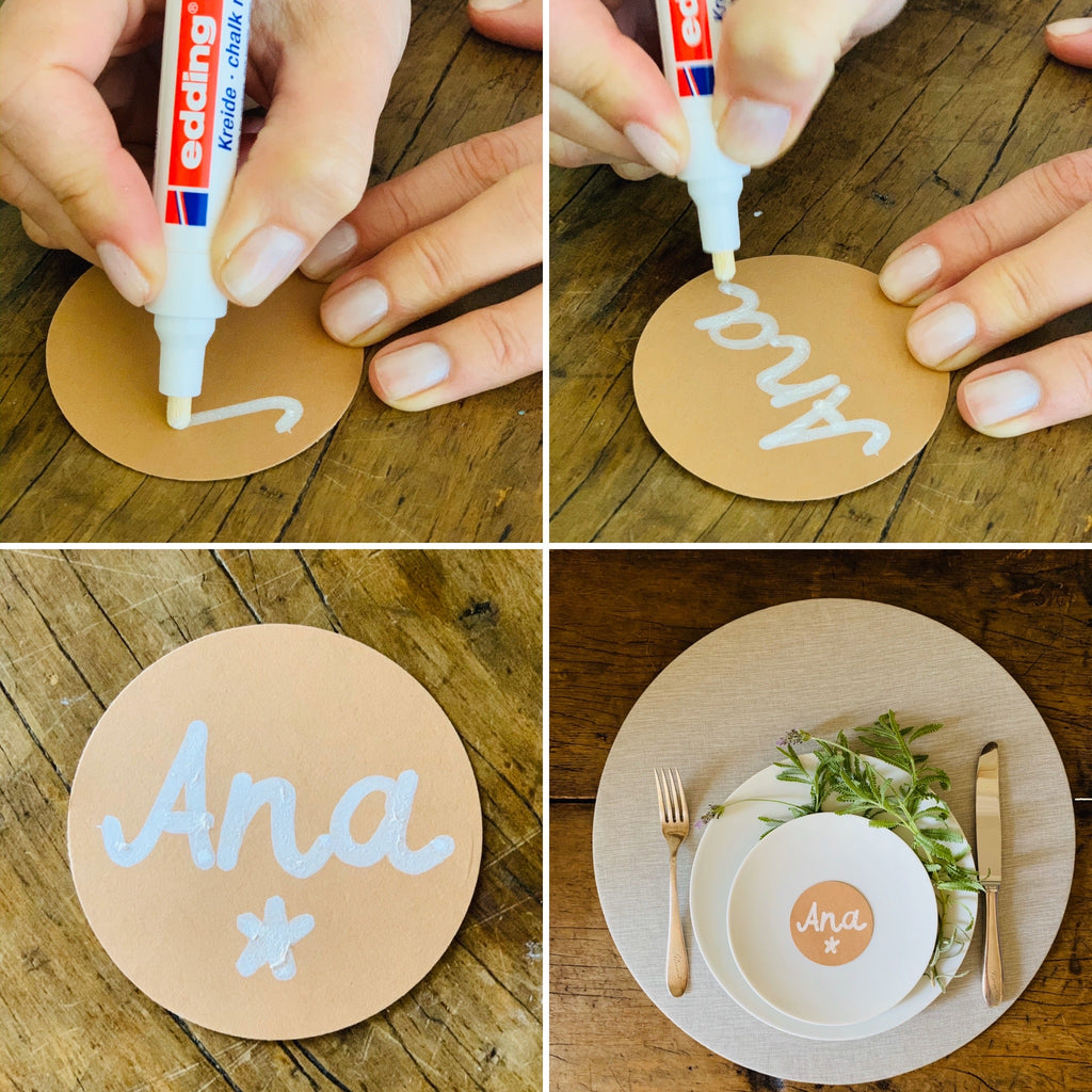 5 minutes placecards for your perfect tabledots tablescape
