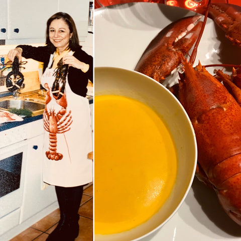 My mom and my favourite Lobster bisque