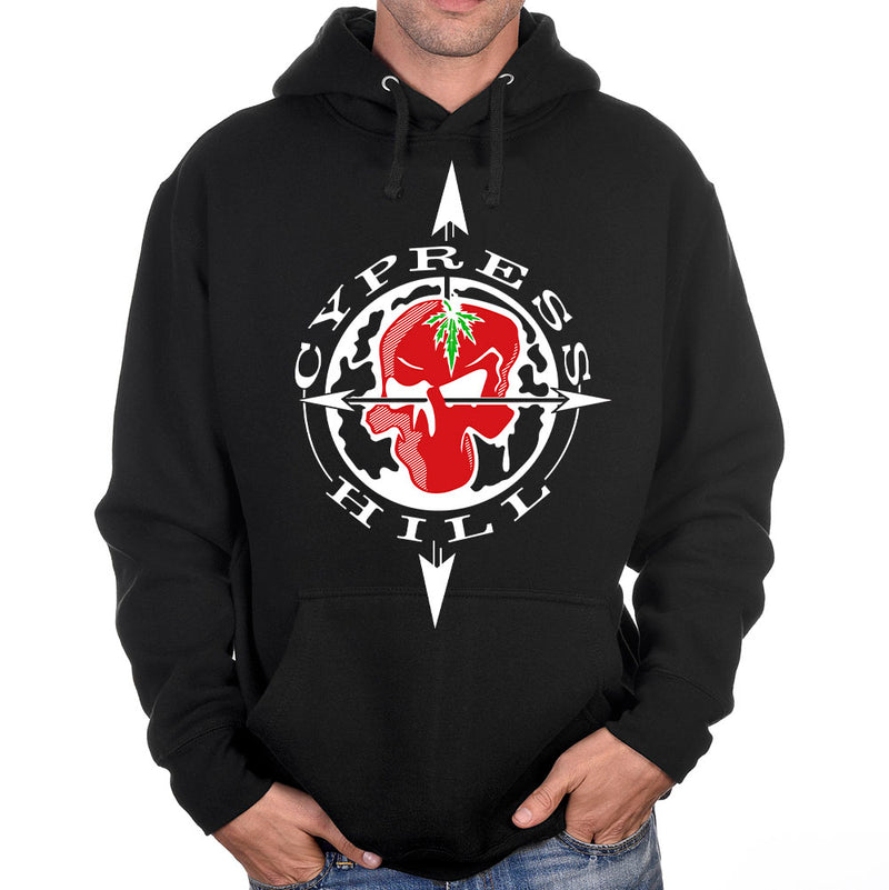 "Cypress Hill ""OG Skull and Compass"" Pullover Hoodie -Black"