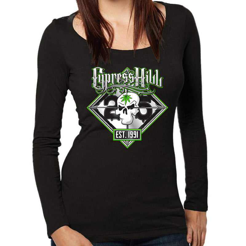 "Cypress Hill ""25th Anniversary Tour"" Women's Long Sleeve Scoop Neck T-Shirt"