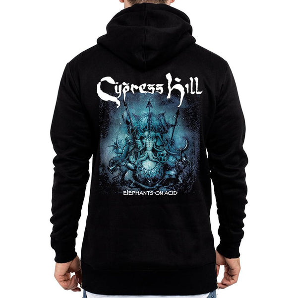 "Cypress Hill ""Elephants On Acid"" Men's Zip Hoodie"