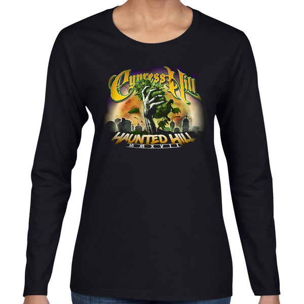 "Cypress Hill ""Haunted Hill 2017"" Women's Long Sleeve Shirt"