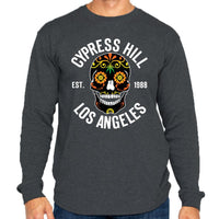 "Cypress Hill ""Day Of The Dead"" Thermal In Charcoal"