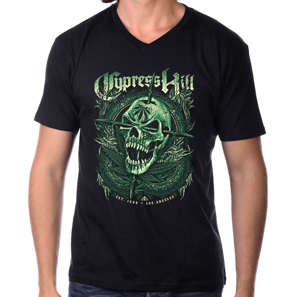 "Cypress Hill ""EST 1988 Skull"" V-Neck Fleece Jersey"