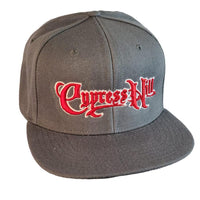 "Cypress Hill ""Script Logo"" Dark Grey Snap Back Baseball Hat"